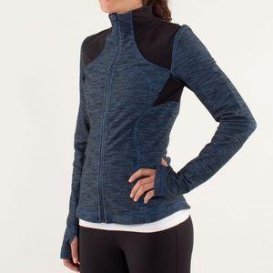 Lululemon Yoga Forme Jacket Slub Denim Blue Black